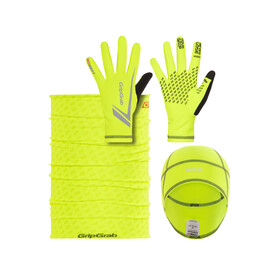 GripGrab Running Essentials Hi-Vis Multipack Fluo Yellow